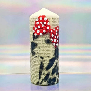Large decorative pillar candle