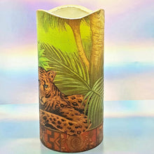 Load image into Gallery viewer, Flameless pillar candle, Leopard LED decorative candle, gift, night light, home decor