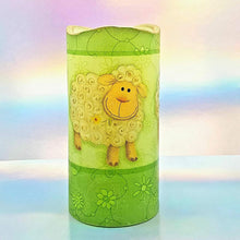 Load image into Gallery viewer, Flameless pillar candle, 3D effect LED candle gift, home decor, Three happy sheep design