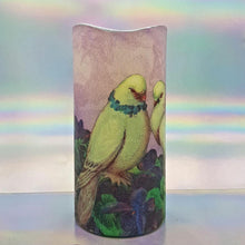 Load image into Gallery viewer, Shimmering LED pillar candle, Flameless love candle, unique Valentines home decor, gift for her, him