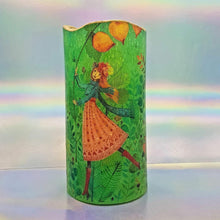Load image into Gallery viewer, LED shimmering candle, Flameless pillar candle of forest fairy, unique home decoration, gift