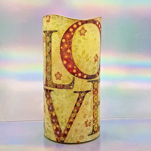 Valentine home decor candle