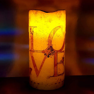 Flickering love candle