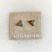 Gray Studs - Triangle (Gold)
