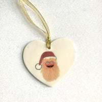 Gritty MINI Ornament - Heart