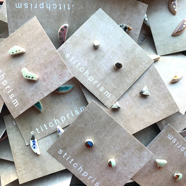 SALE STUDS - Mystery Single Pair - StitchPrism