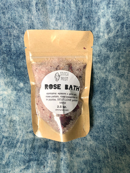 ROSE Bath Salt Blend - 2.5 oz or 1 lb bag