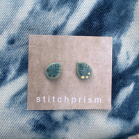 Leaf Studs - Turquoise (Gold or Silver) - StitchPrism
