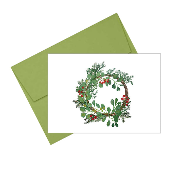 Winter Wreath Holiday Card
