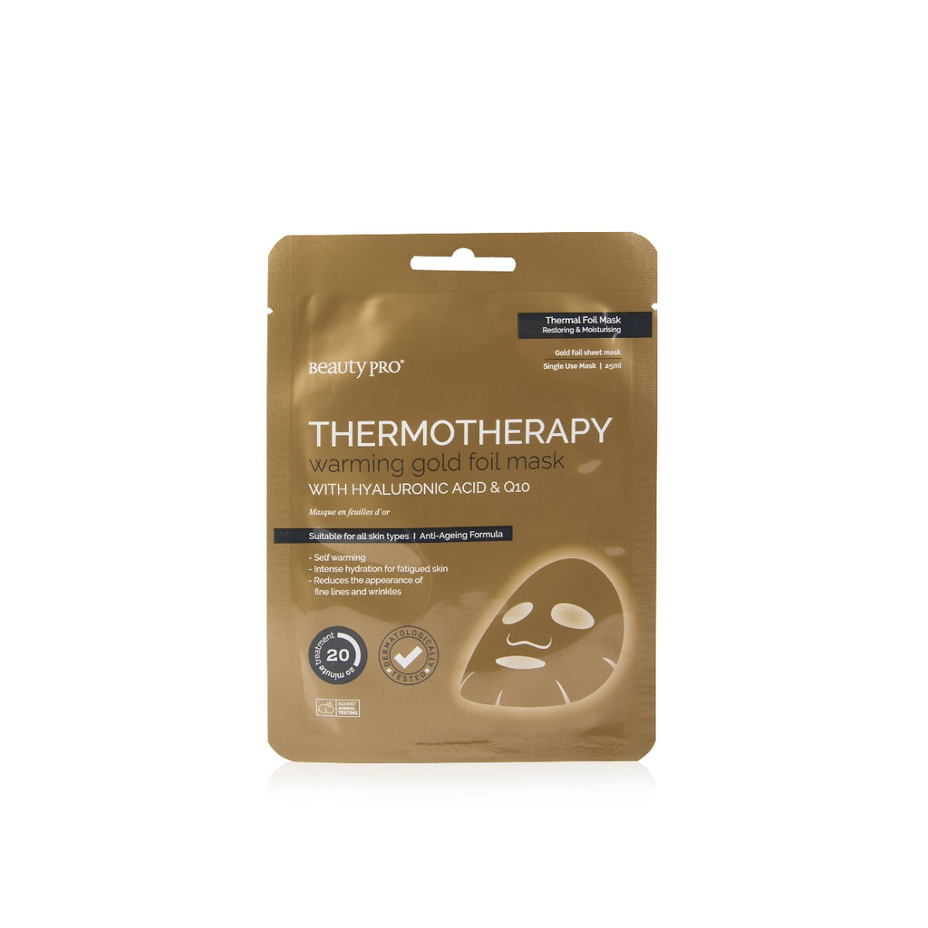 THERMOTHERAPY Warming Gold Foil Mask with Hyaluronic Acid & Q10