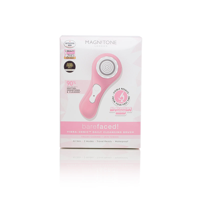 BareFaced Vibra-Sonic Daily Cleansing Brush (Pink)
