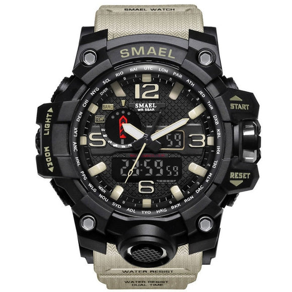 Men Waterproof Military Wristwatch