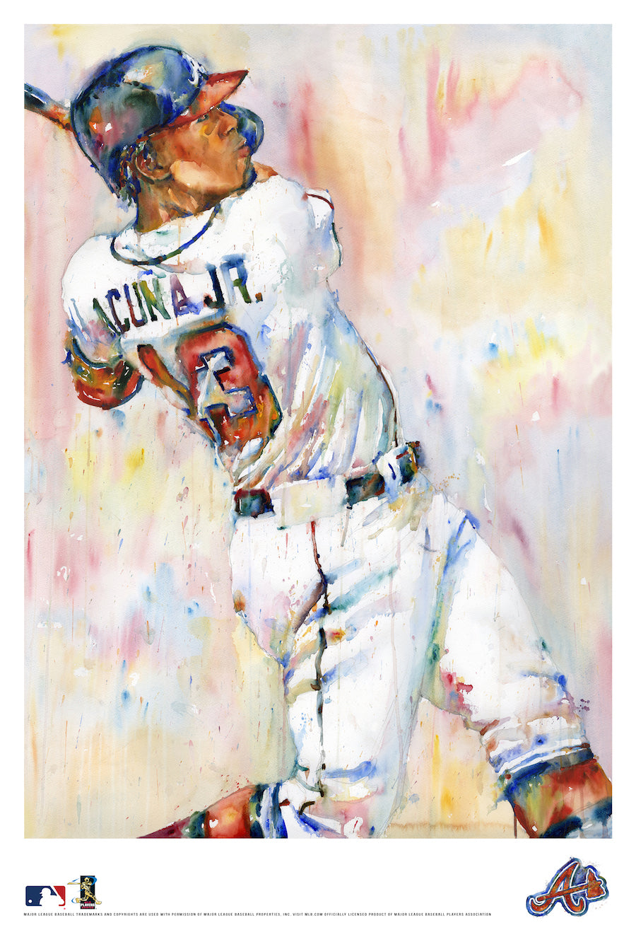 Ronald Acuna Jr. Watercolor Fine Art Print