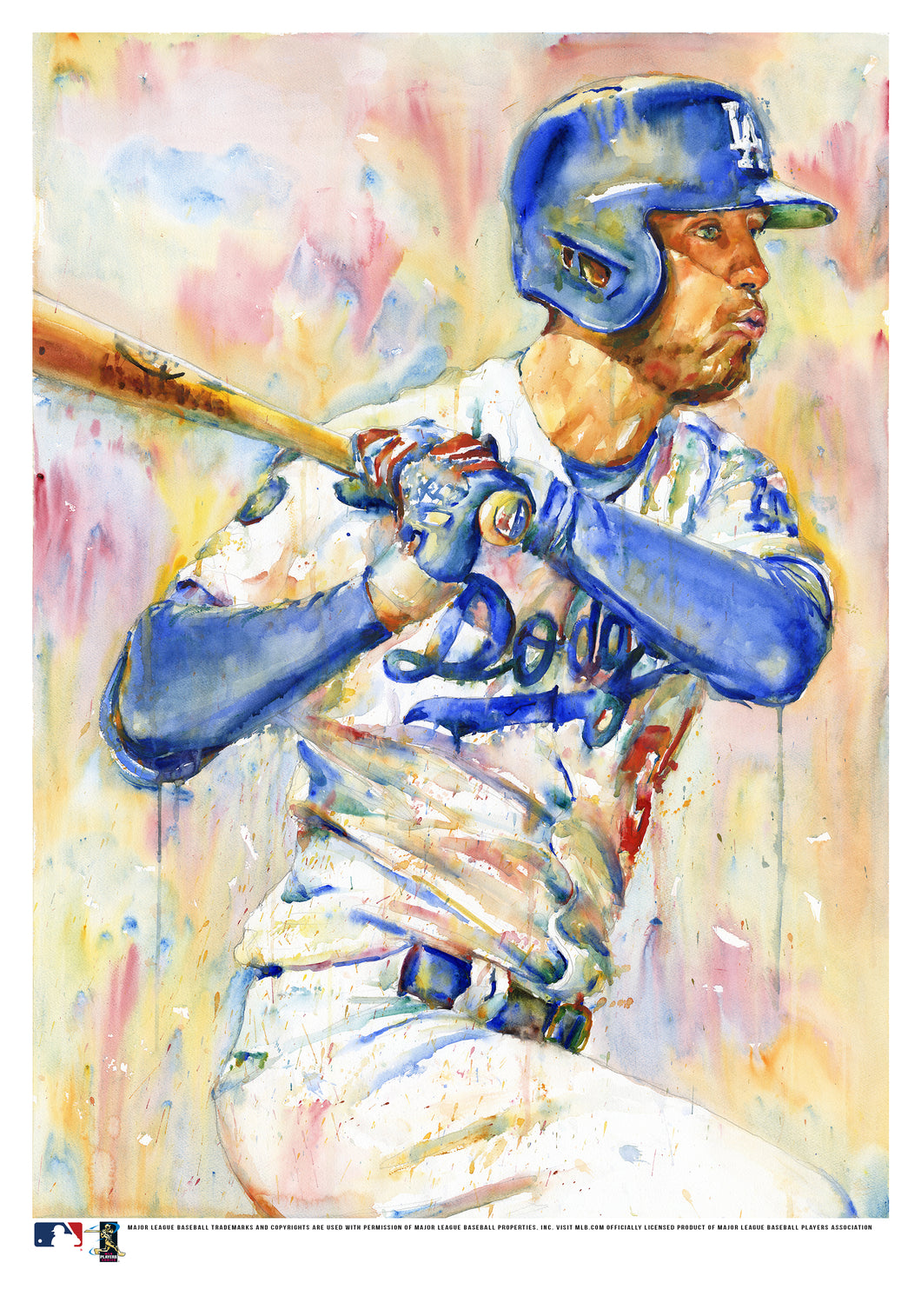Cody Bellinger Watercolor Fine Art Print