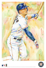 Load image into Gallery viewer, Alex Bregman Watercolor Fine Art Print