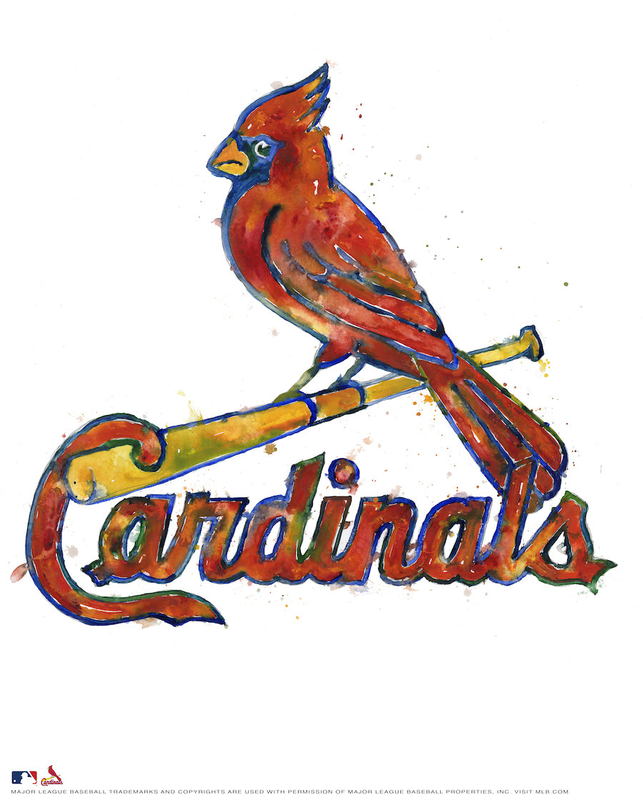 St. Louis Cardinals Watercolor Logo Print