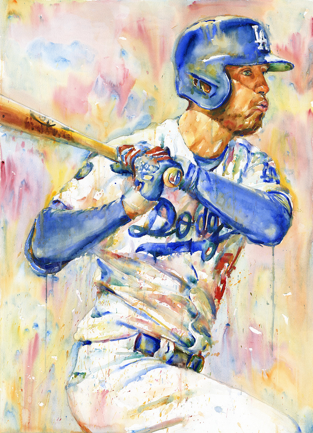 Cody Bellinger - Original Topps Watercolor painting
