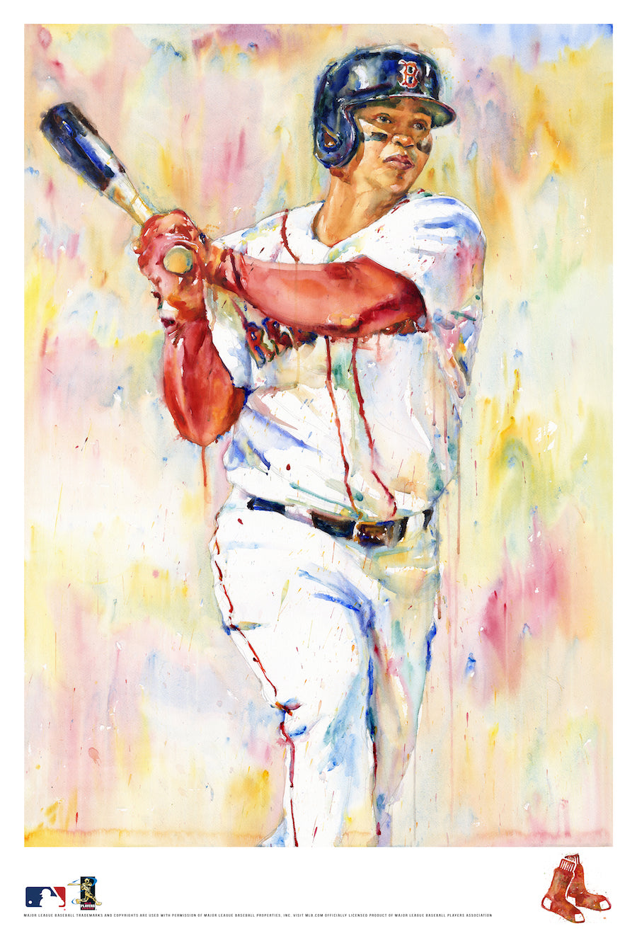 Rafael Devers Watercolor Fine Art Print