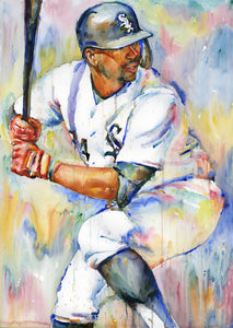 Eloy Jimenez - Original Topps Watercolor painting