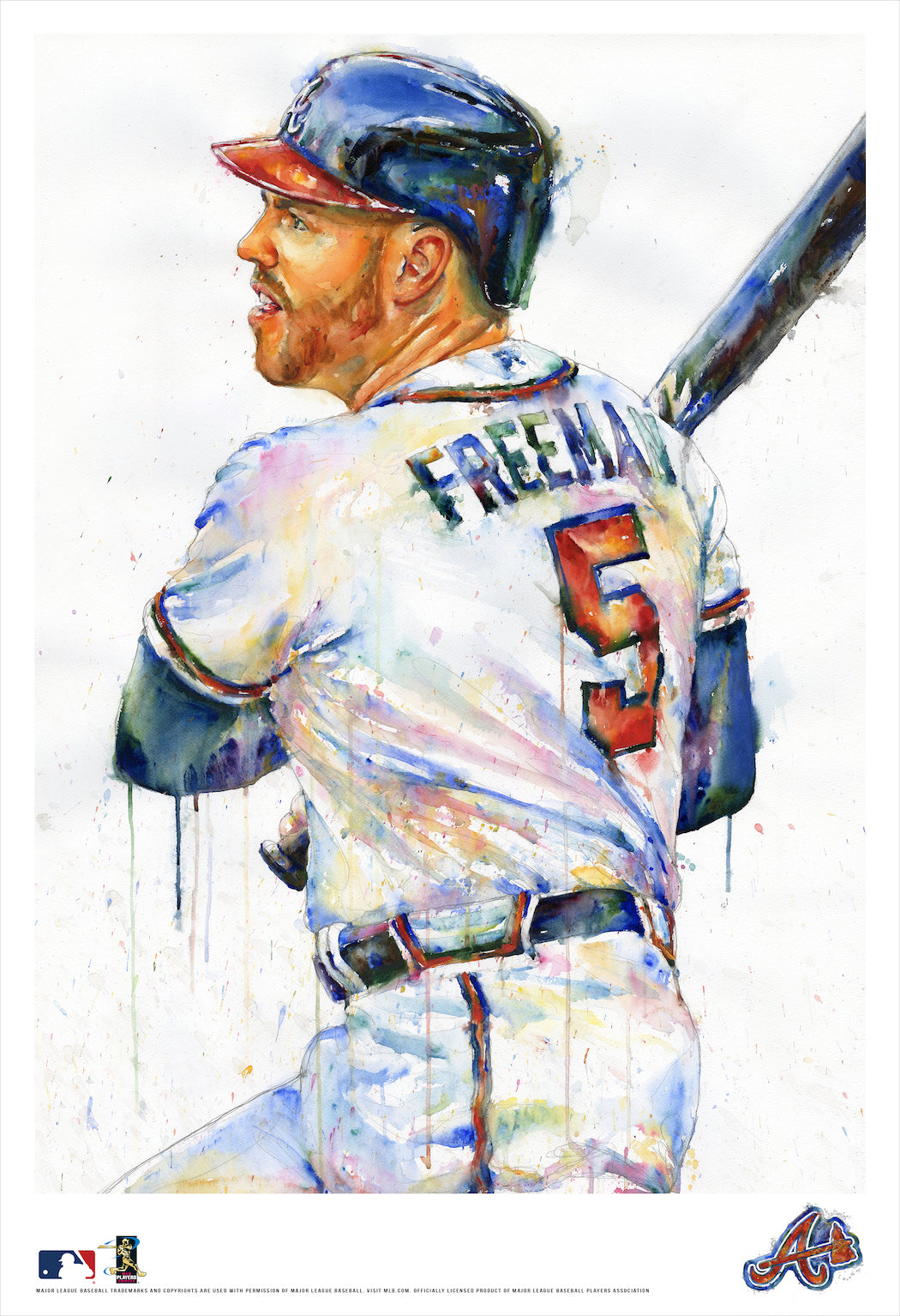 Freddie Freeman Watercolor Fine Art Print