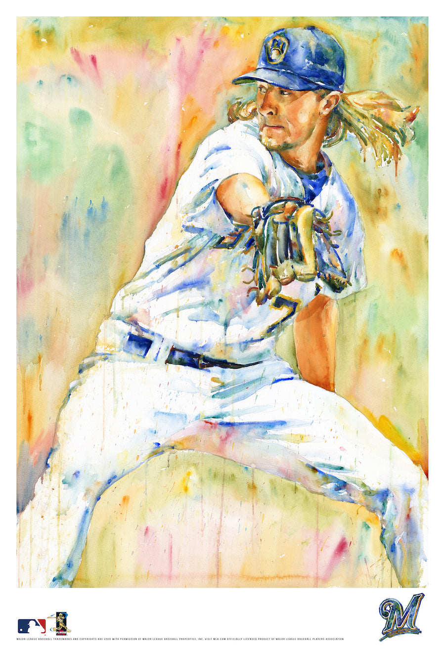 Josh Hader Watercolor Fine Art Print