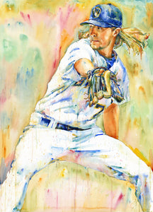 Josh Hader - Original Topps Watercolor painting