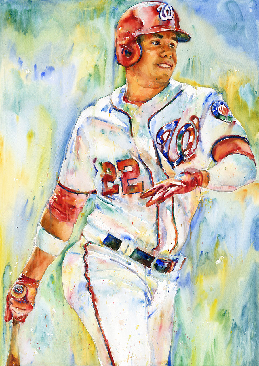 Juan Soto - Original Topps Watercolor painting