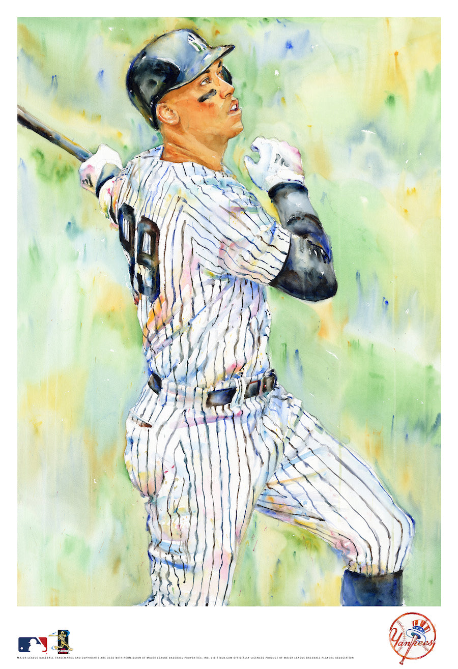 Aaron Judge Watercolor Fine Art Print