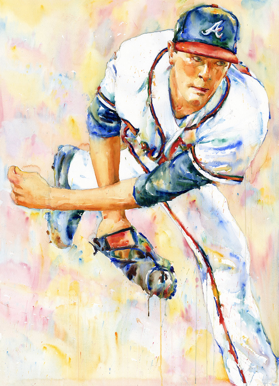Max Fried - Original Topps Watercolor painting