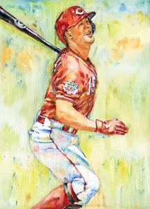 Nick Senzel - Original Topps Watercolor painting