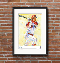 Load image into Gallery viewer, Shohei Ohtani Watercolor Fine Art Print