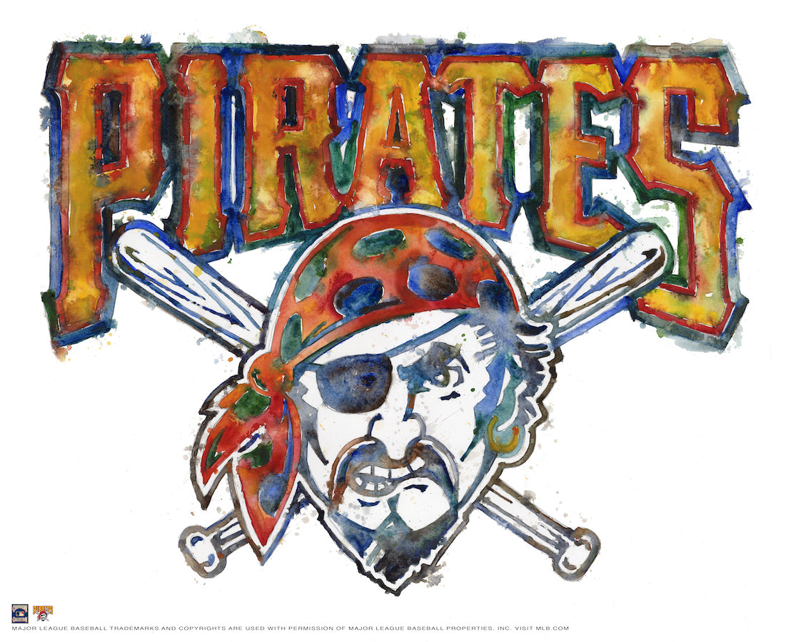 Pittsburgh Pirates Watercolor Logo Print