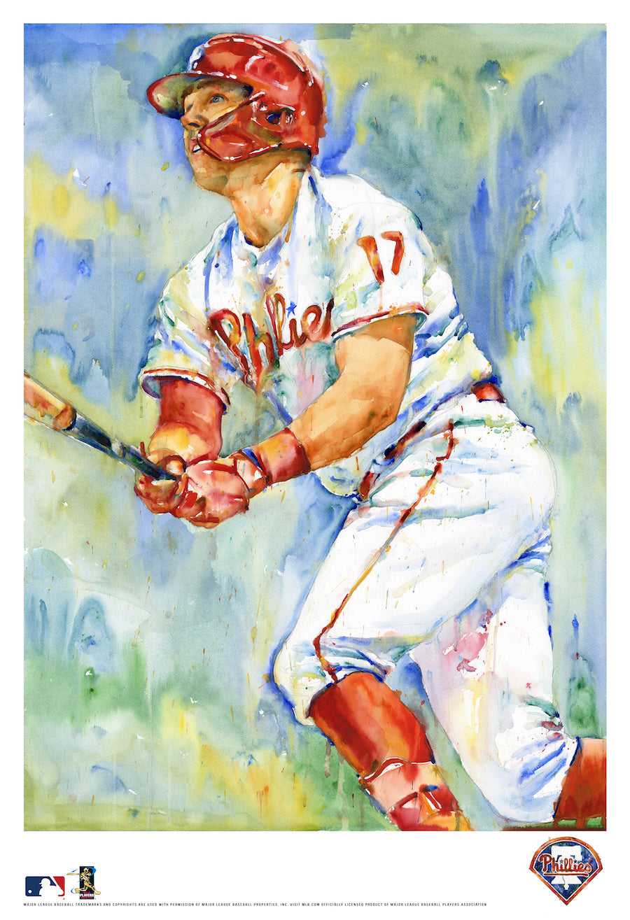 Rhys Hoskins Watercolor Fine Art Print