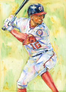 Victor Robles - Original Topps Watercolor painting