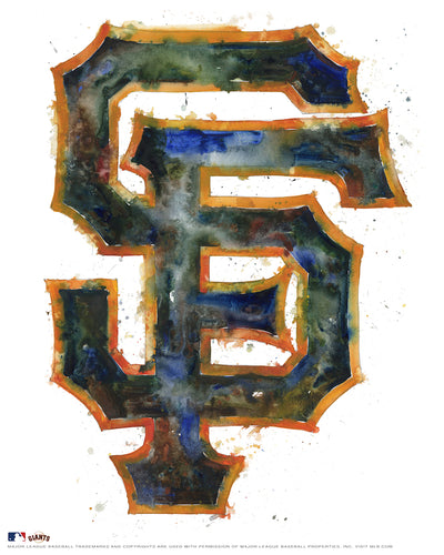 San Francisco Giants Watercolor Logo Print