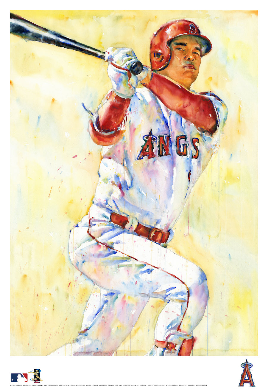 Shohei Ohtani Watercolor Fine Art Print