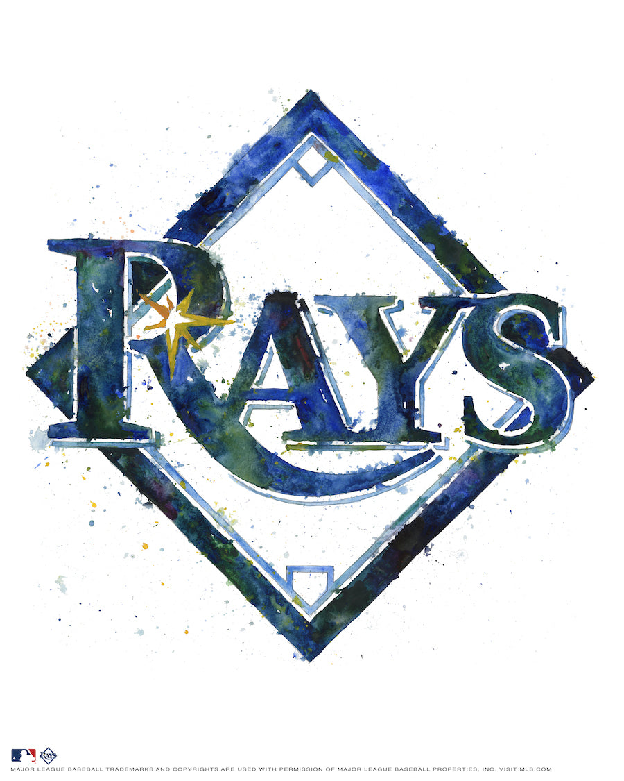 Tampa Bay Rays Watercolor Logo Print