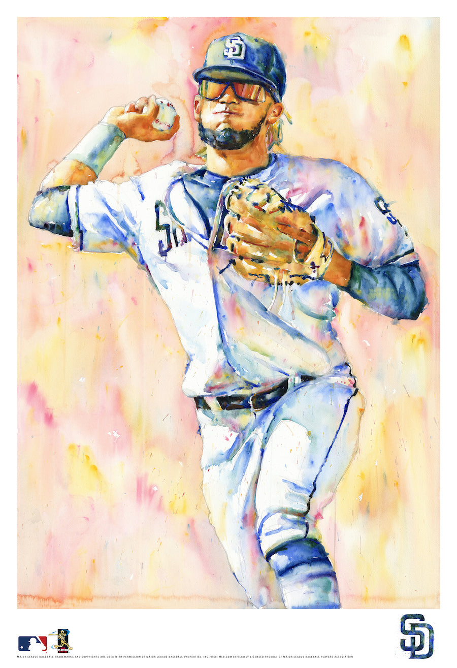 Fernando Tatis Jr. Watercolor Fine Art Print