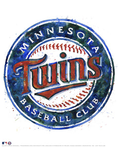 Minnesota Twins Watercolor Logo Print