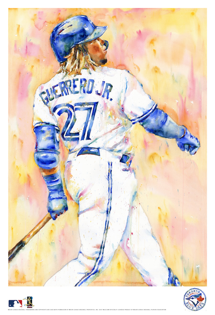 Vladimir Guerrero Jr. Watercolor Fine Art Print
