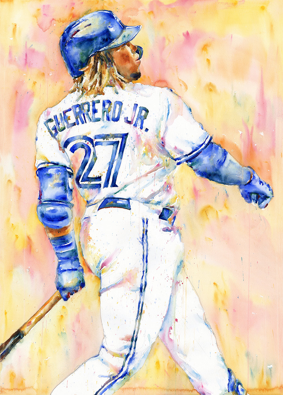 Vladimir Guerrero Jr. - Original Topps Watercolor painting