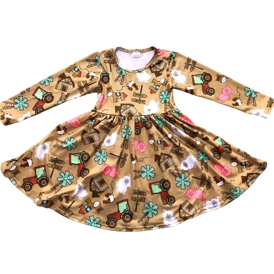 Farmyard Buddies Twirl Dress kids Sparkledots