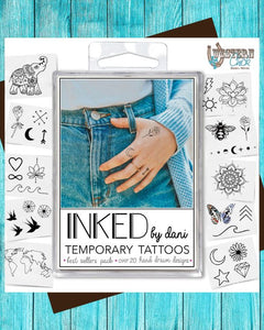 Temporary Tattoos - The Best Seller's Pack Gift Inked By Dani