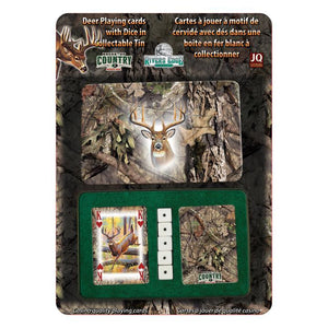 Mossy Oak Deer Playing Cards & Dice Set Gift Rivers Edge