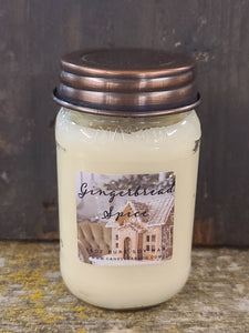 Gingerbread Spice Mason Jar Candle 16 oz Candles & Melts Candle Baarn Co.