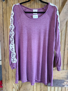 Stay Soft Plum Top - XL