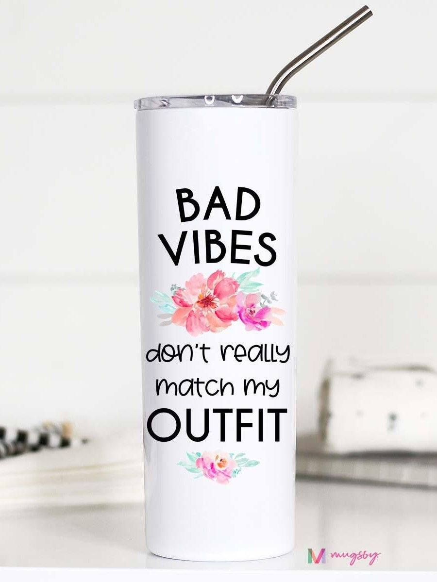 Bad Vibes Travel Mug 20 oz. Gift Mugsby