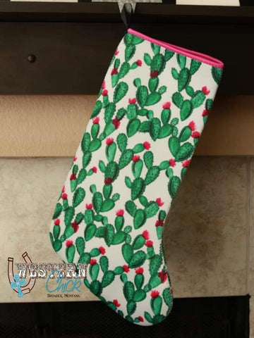 Christmas Stocking - Cactus Gift Glitter and Glam Boutique