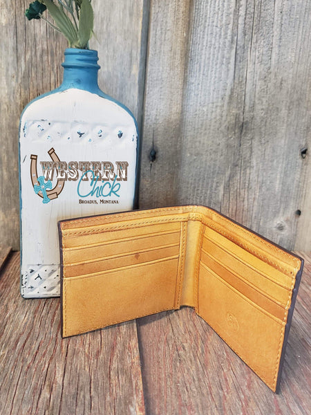 The Dalley Bifold with Turquoise Cutouts Wallet M&F Western Products