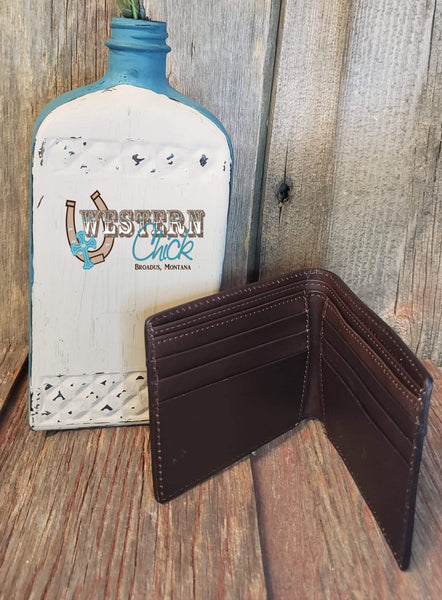 The Dawson Taupe Bifold Wallet Wallet M&F Western Products